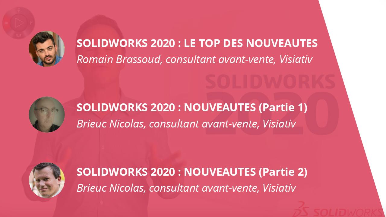 3 articles nouveauts solidworks 2020