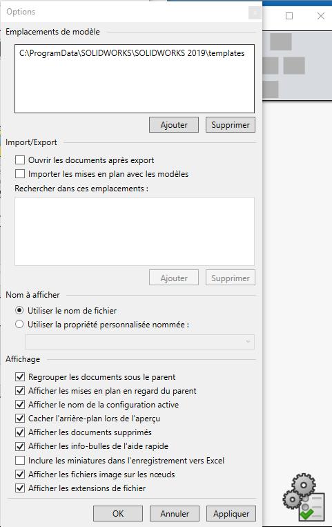 SOLIDWORKS TreeHouse 2019 : un outil pour configurer ou modifier une hiérarchie d'assemblage